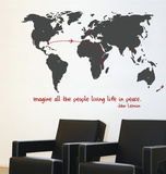 World Traveller Transfer Wall Decal