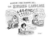 """Behold The Horror Of The Ringing Landline"" - New Yorker Cartoon"