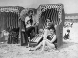 Elisabeth Pinagreff  Agnes Esterhazy and Hanna Weiss in a beach chairs  1927