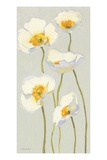 White on White Poppies Panel II