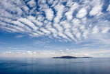 Clouds over Lake Titicaca and Taquile Island  in the Distance