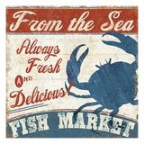 Fresh Seafood IV Giclée premium par Pela