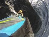 Mast Mounted Shot of a Man Windsurfing on Sebago Lake