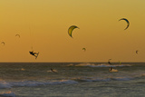Kite Surfers at Sunset