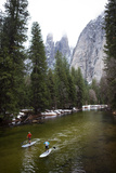 Stand Up Paddle Boarders Take a Winter Paddle in the Merced River