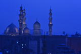 Minarets of Sultan Hassan and Rifai Mosques in Old Cairo