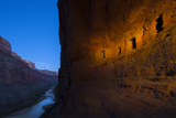Ancestral Pueblo Indian Graneries Carved into Canyon Walls