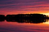 A Colorful Evening Sky over the Chesapeake Shoreline Near Kent Island
