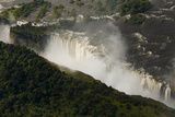 Aerial View of Mist Coming from Victoria Falls