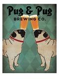Pug and Pug Brewing Giclée premium par Ryan Fowler