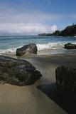 Volcanic Beach Rocks Along the West Coast of Maui