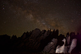 The Milky Way Passes over Granite Rock Formations