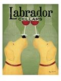 Two Labrador Wine Dogs Giclée premium par Ryan Fowler