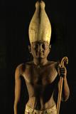 Statue of Pharaoh Senusret I Wearing the White Crown of Upper Egypt