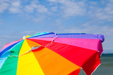 A Beach Umbrella and a Blue Sky on Martha's Vineyard