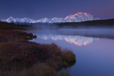 Scenic View of Snow-Covered Mount Mckinley Beyond a Wonder Lake
