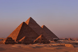 The Pyramids of Giza and Three Pyramids of the Queens