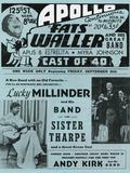 Apollo Theatre  Handbill: Fats Waller  Lucky Millinder  Sister Tharpe
