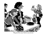 """Oh  great! Here comes Valerie to raise the bar"" - New Yorker Cartoon"