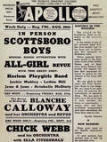 Apollo Theatre: Scottsboro Boys  Blanche Calloway  Chick Webb  Ella Fitzgerald  and More