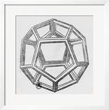 """Dodecahedron  from """"De Divina Proportione"""" by Luca Pacioli  Published 1509  Venice"""