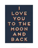 To the Moon and Back Reproduction d'art