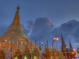Shwedagon Pagoda  Located in Yangon  Burma (Myanmar)