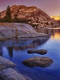 Tenaya Lake at Sunset in Yosemite National Park