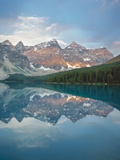 Mirror Reflection on Moraine Lake at Sunrise  Banff National  Park