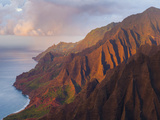The Fluted Cliffs of the Na Pali Coast at Sunset  Kauai  Hawaii
