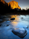 Merced River Beneath El Capitan in Yosemite National Park  California