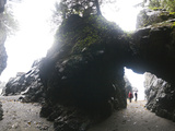 Exploring Sea Caves and Arches at Tsuquadra Point  West Coast Trail  British Columbia  Canada