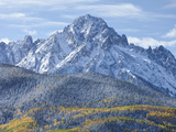Mount Sneffels after an Early Autumn Snowfall  Near Telluride  Co