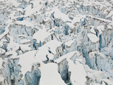 Detail of the Heavily Crevassed Surface of Columbia Glacier  Alaska