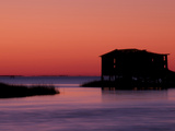 Fishing Shack at Twilight Near Bodie Island Lighthouse on the Outer Banks of North Carolina