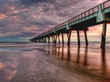 Jacksonville  Fl: Sunrise Colors the Skies at the Pier