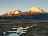 Volcanoes Bolivia's Sajama Nat Park  Northern Chile