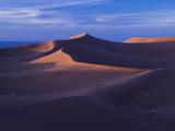 Last Light on Falls and Sand Dunes