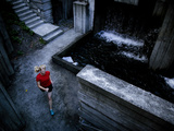 Lisa Eaton Goes for an Early Morning Run in Freeway Park - Seattle  Washington