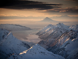 Lake Clark National Park  Alaska: Morning Light on the Chigmit Mountains