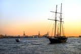 Sailboats - East River - Sunset - Manhattan - New York - United States