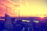 View of city - Sunset - Manhattan - New York City - United States