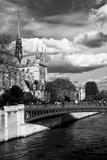 Double Pont Bridge - Notre Dame Cathedral - Paris - France