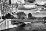 Double Pont Bridge - Notre Dame Cathedral - Paris - France