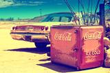 Ancienne Glaciere Coca Cola Sur La Route 66 II