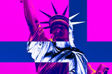 Statue of Liberty - Pop Art - Décorative Art - Pink - New York - United States