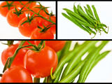 Tomato and beans - Vegetables - Foods
