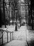 Escalier À Montmartre, Paris Papier Photo par Philippe Hugonnard