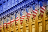 American flags - Manhattan - NYC - United States