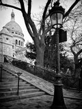 Steps to the Place du Sacré Cœur - Montmartre - Paris - France